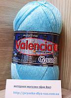 Зимняя пряжа (12%- шерсть ламы, 88%- премиум акрил, 100 г/ 230 м) Valencia Gaudi 14-4816(голубой)