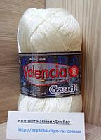 Зимняя пряжа (12%- шерсть ламы, 88%- премиум акрил, 100 г/ 230 м) Valencia Gaudi 11-0601(белый)
