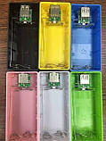 Powerbank Повербанк для 2-х 18650 Li-Ion пластик (цвет случайный), фото 2