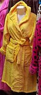 Яркий домашний халат под пояс