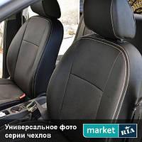 Чехлы для Fiat Punto, Черный + Черный цвет, Экокожа