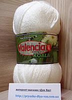 Акриловая пряжа ( 100% премиум акрил DuPont, 100 г/250 м) Valencia Koala CQ 001(белый)
