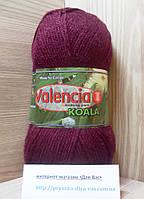 Акриловая пряжа ( 100% премиум акрил DuPont, 100 г/250 м) Valencia Koala 25671 (бордо)