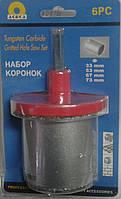 Набор коронок с вольфрамовым напылением(33,53,67,73мм) по керамике.