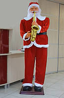 Санта Клаус играет на саксофоне и танцует 185 см