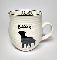Чашка Собака Боксер, символ нового года 2018, 400 мл