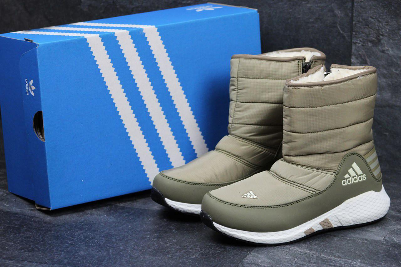 Ботинки женские Adidas (оливковые), ТОП-реплика