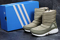 Ботинки женские Adidas (оливковые), ТОП-реплика, фото 1