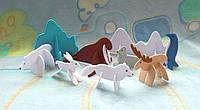 Игрушки 3d пазлы из фетра животные арктики