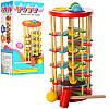Деревянная игрушка Стучалка QZM-0205, молоточек, шарики