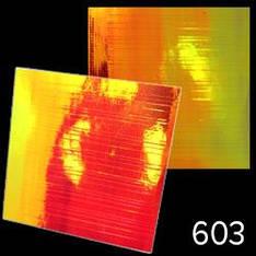 """KATTi Наклейки клейкие """"Битое Стекло"""" 603 полосы красный + оранж 1шт/лист 6х6см"""
