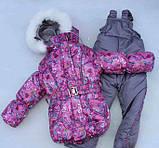 """Зимовий костюм """"Ельза"""" для дівчинки сніжинки. Розміри 1-2-3-4 року, фото 2"""