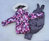 """Зимовий костюм """"Ельза"""" для дівчинки сніжинки. Розміри 1-2-3-4 року, фото 3"""