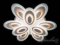 Сверхъяркая светодиодная люстра с цветной подсветкой 240W 8078-6+3WHLED