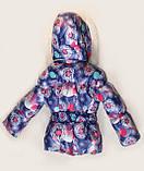 """Зимний костюм """"Эльза"""" для девочки принт в синем цвете. Размеры 1-2-3-4 года , фото 3"""