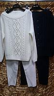 Вязаный костюм с жемчугом