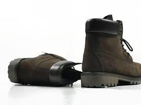 Зимние мужские ботинки Timberland Brown Nubuk топ реплика, фото 2