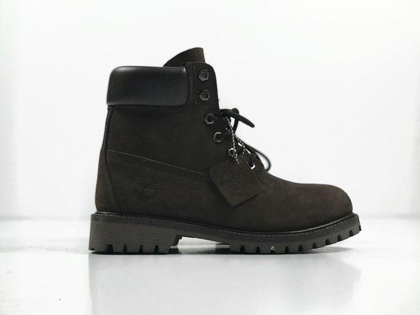 Зимние мужские ботинки Timberland Brown Nubuk топ реплика