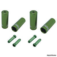 Комплект наконечников Jagwire CHA094-RJ, зеленый
