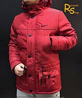 Зимняя мужская куртка Nike red
