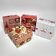 Подарочные коробки Новогодние, 4 шт