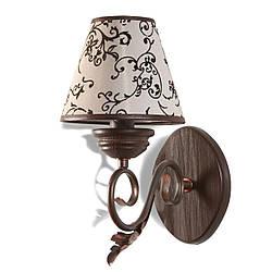 Настінний світильник, бра дерев'яне, в класичному стилі 30231