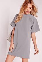 Серое платье-джемпер прямого кроя Missguided, фото 2