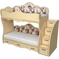 Двухэтажная кровать Прованс, улучшенная комплектация