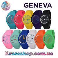 Спортивные силиконовые наручные часы Geneva, фото 1