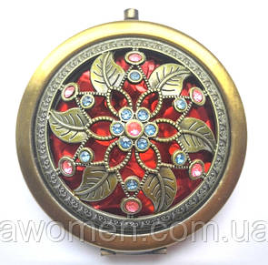 Компактное зеркало с камнями (бронза)