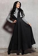 Длинное теплое платье на меху 1403496