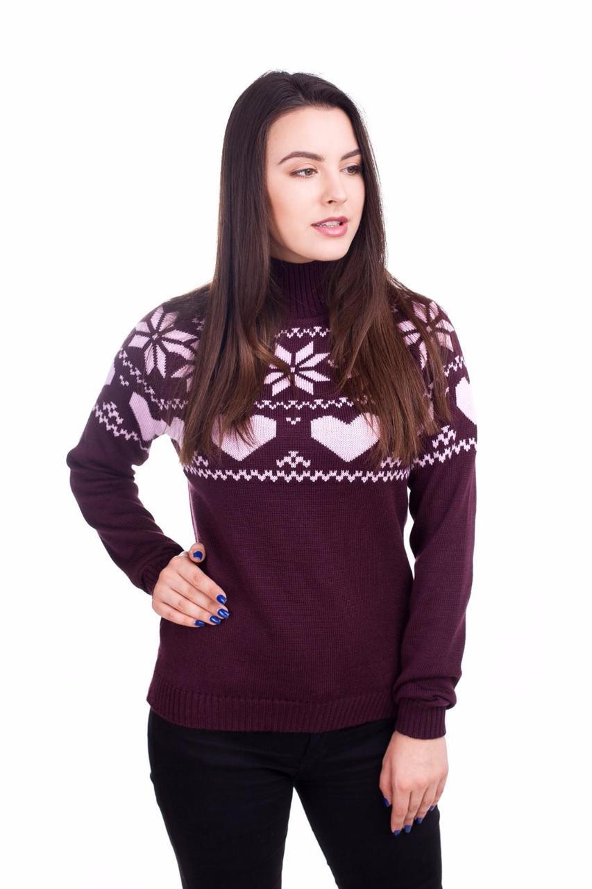 Качетвеный вязаный свитер