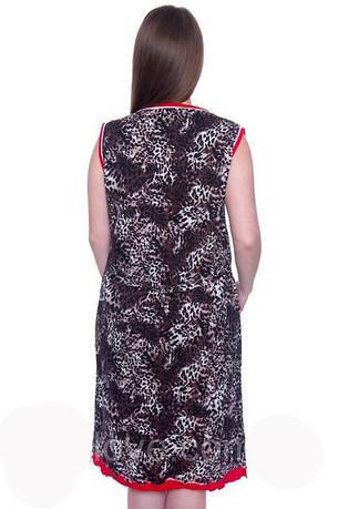 Женский летний халат больших размеров EKREM Wild Love, фото 2