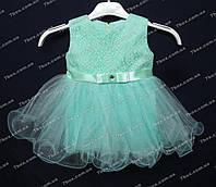 """Детское нарядное платье бальное """"малышка"""" (мята) Возраст 1г., фото 1"""