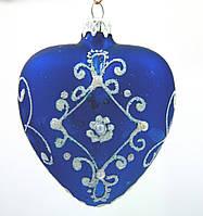 Новогодний декор стеклянное елочное украшение Сердце
