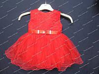 """Детское нарядное платье бальное """"малышка"""" (красное) Возраст 1г., фото 1"""