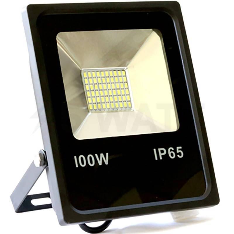 Уличный мощный LED ПРОЖЕКТОР  100W -6500K ЧЕРНЫЙ IP65 40000H 8000LM