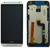 Дисплей (экран) + сенсор (тач скрин) HTC Desire 601 315n с рамкой black (оригинал)