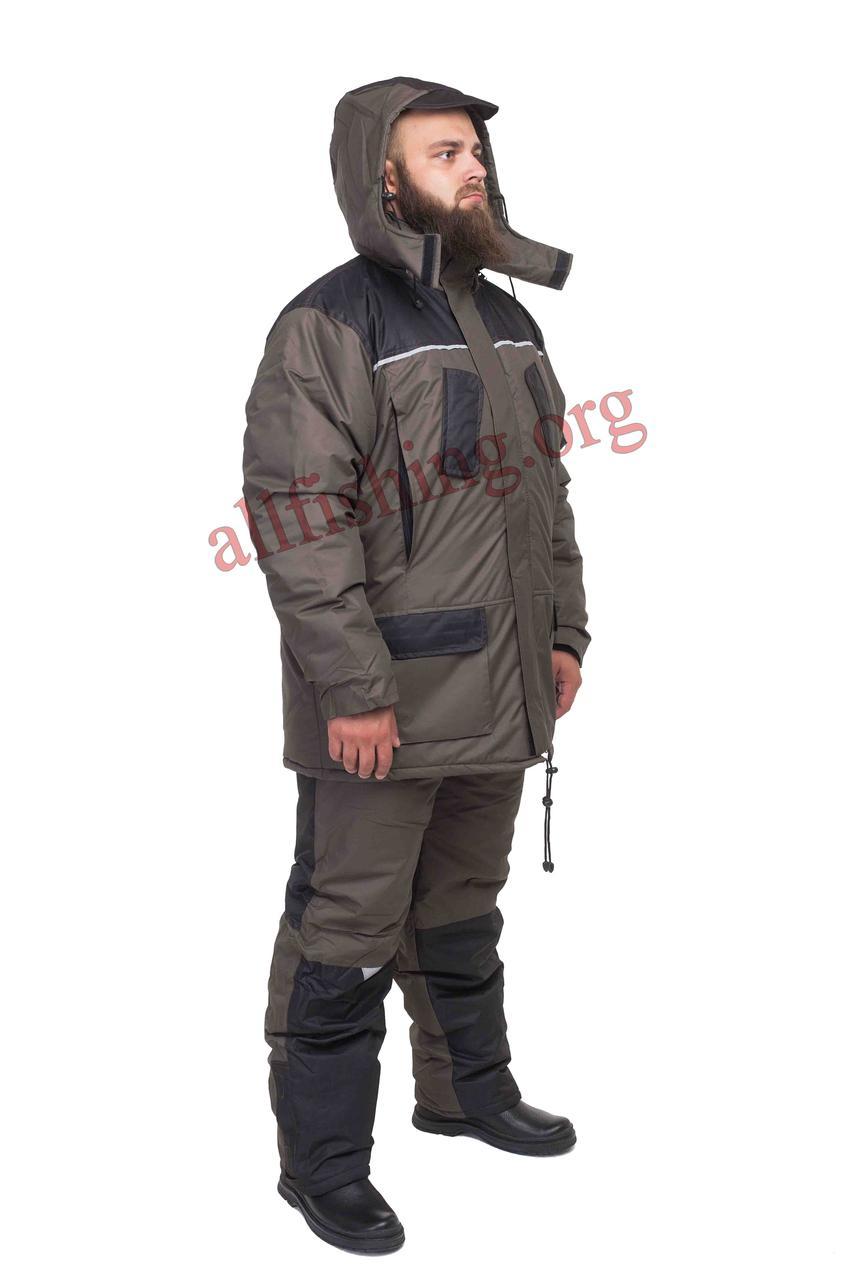 Зимний костюм для рыбалки и охоты мембранный Nova Olive