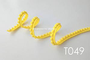 Тесьма со вставками желтый 12 мм (Т049)