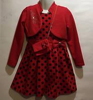 Красное платье горох 98 122