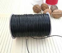 Шнур вощенный, черный, 1 мм, 160 м/катушка