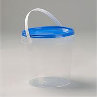Ведро пластиковое 10л(прозрачное),пищевое