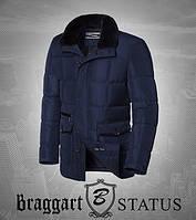Braggart Status 3845   Зимняя мужская куртка темно-синяя Размеры 56, 58