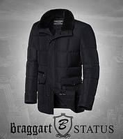 Braggart Status 3845 | Куртка зимняя мужская черная Размер 46, 48