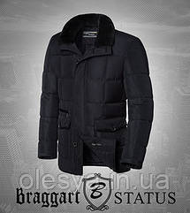 Braggart Status 3845   Куртка зимняя мужская черная Размер 46, 48