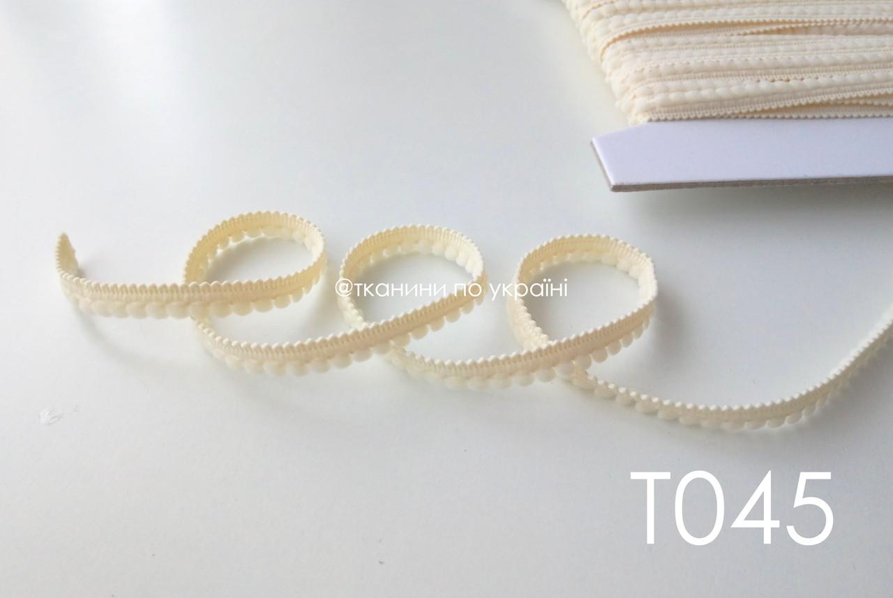 Тесьма со вставками бледно-желтый 9 мм (Т045)