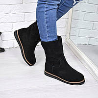 Полусапоги ботинки Lonsale замша Зима, обувь зимняя женская