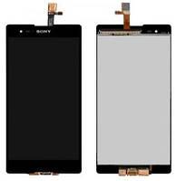 Дисплей (экран) + сенсор (тач скрин) SONY D5322 Xperia T2 Ultra DS, (оригинал)