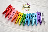 Декоративные цветные деревянные прищепки, 10 шт., 3,5 см, ассорти